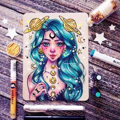 Copic Kunst, Copic Art, Amazing Drawings, Cute Drawings, Amazing Art, Marker Kunst, Marker Art, Disney Kunst, Disney Art