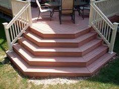 Image result for putting steps on a deck