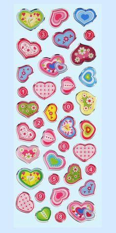 Creapop Glossy-Stickers Herzen