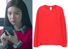 "Kim So-Eun 김소은 in ""Liar Game"" Episode 1.  O'2nd Audrey Knit Pullover 2WMO4KU00300 #Kdrama #LiarGame 라이어 게임 #KimSoEun"