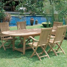 Royal Teak Family 72 - 96 in. Expansion Patio Dining Table | from hayneedle.com