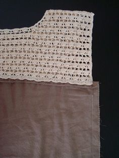 Errata in row 1 – sorry about that! New pattern! :D Really liking those half-lace blouses that are popular nowadays. So I figure I could make my own lace :D It's basically a p…