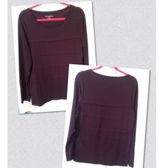 NWOT Plum Long Sleeve Top Size L Beautiful Soft & Comfy, Plum Long Sleeve Top Size L NEVER WORN EXCELLENT CONDITION...By Ann Taylor Ann Taylor Tops