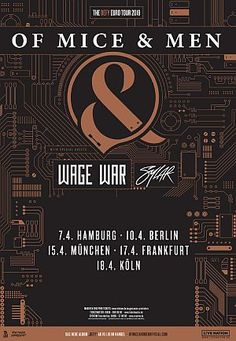 """Live Review: Of Mice & Men - Cologne 2018 // Essigfabrik, Cologne, Germany // 18th April 2018 // Of Mice & Men - """"Defy Tour"""" 2018 - Special Guests: Sylar, Wage War"""