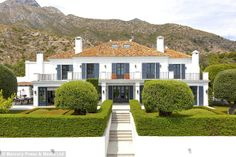 Mountain view: The Costa del Sol mansion is located a few miles from Marbella...