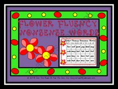 Flower Fluency Nonsense Word Center from Can You Read It on TeachersNotebook.com (10 pages)  - This flower themed file provides 6 color coded game boards to practice decoding nonsense words. 6 different students can play at one time at a center. Students need to sound out the word in each box as fast as they can! Students can trade cards with a fri