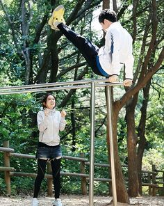 """""""Fated to Love You"""": Jang Hyuk & Jang Nara Are A Workout Couple (Couch Kimchi) Jang Jang, Jang Hyuk, Jung Ryeo Won, Fated To Love You, Korean Drama Stars, Korean Actors, Korean Dramas, Asian Actors, Choi Jin Hyuk"""