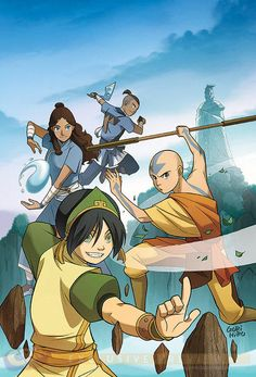 """Avatar: The Last Airbender """"The Rift""""- official manga. """"The Rift"""" is a manga trilogy that is a continuation of the """"The Promise"""" and """"The Search"""", which are part of a continuation story of the lives of Aang and the gang after Fire Lord Ozai was defeated. Avatar Aang, Avatar Airbender, Avatar Legend Of Aang, Team Avatar, The Legend Of Korra, Fire Nation, Books For Boys, Dark Horse, Sword Art Online"""
