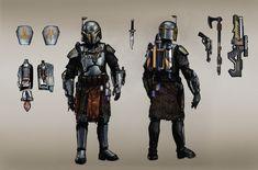 """ARAN GORAN"" - Mandalorian Armor and equipment - Concept art. by Araxussyexyr araxuss yexyr arkadiusz dydek #themandalorian #mandalorianarmor #fett #concept #character #starwars"