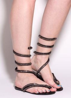 Coil And Trouble Jeweled Sandals