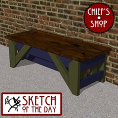 Sketch of the Day: Storefront Bench