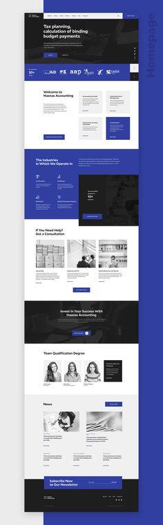 finance website design Hasnas Accounting - Website on Behance Corporate Website Design, Web Design Websites, Website Design Layout, Homepage Design, Web Layout, Layout Design, Maquette Site Web, Responsive Layout, Wordpress Theme Design