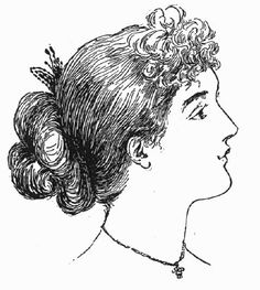 """Vintage Victorian: 1890s Costume Accessories """"In the early 90s it is fairly close to the head and by the late decade it is approaching the Gibson Girl puff."""""""