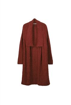 If only I could find this color of red cashmere wrap! Cashmere Wrap, Cashmere Cardigan, Wrap Cardigan, Open Front Cardigan, I Dress, Dressing, Clothes For Women, My Style, How To Wear