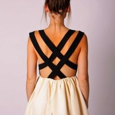 DIY- cut out the back of a dress you already own and add straps