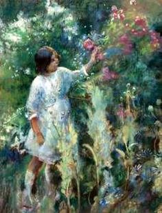In The Garden, Henry Tonks (1862 – 1937, English) I AM CHILD-children in art history blog