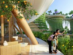 Urban farming utopia in India produces more energy than it uses Hyperions by Vincent Callebaut – Inhabitat - Green Design, Innovation, Architecture, Green Building Architecture Environnementale, Environmental Architecture, Futuristic Architecture, Sustainable Architecture, Vincent Callebaut, Terrasse Design, Eco City, Urban Farming, Construction