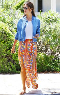 How To Master The Maxi Skirt via @WhoWhatWear  YOUR VEST!