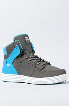 The Vaider Lite Sneaker in Gray Raptor TUF, Royal Leather, and White Midsole by SUPRA