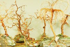 Trees of all shapes and sizes are being made using the copper wire from appliance cords.