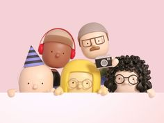 How to Apply Design Thinking to the UX Process - Muzli - Design Inspiration Simple Character, 3d Character, Character Concept, Character Design Animation, 3d Animation, Creative Inspiration, Design Inspiration, Biscuit, Identity