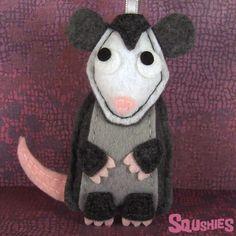 Felt Animal, Christmas Ornament - Quigley the Possum by Squshies