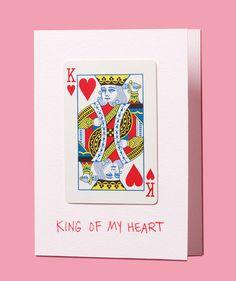 DIY Handmade Valentine's Day card // King of my heart.