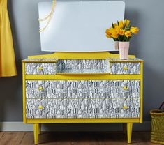Turn a tired dressing table into a fabulous focal point