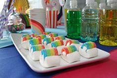 "Theme ""Unicorn Rainbow Celebrate yourself Unicorn Themed Birthday Party, Trolls Birthday Party, Troll Party, Rainbow Birthday, Unicorn Party, Happy Birthday Girls, Baby Birthday, Candy Recipes, Holiday Recipes"