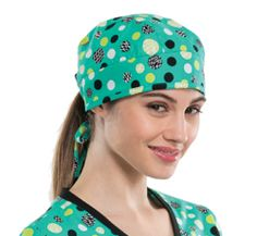 Cherokee Dots and Spots Scrub Cap made of 100% Cotton. This is a adjustable 687ccbf1c99