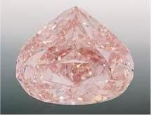 The Pink Sunrise Diamond heart shaped and weighing in at 29.79 carats and internally flawless.