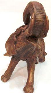 Ateliê Le Mimo: OUTROS ANIMAIS  Elefante grande - peça em gesso