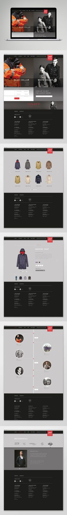 Corporate Wear Website by Katharina Mauer,