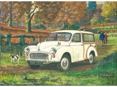 Morris TravellerMorris Traveller - Morris TravellerMorris Traveller - Morris Traveller by Richard Wheatland Morris Traveller, Vintage Cars, Antique Cars, Morris Minor, Great Western, Automotive Art, Commercial Vehicle, Woody, Classic Cars