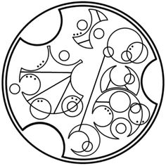 """""""Go beyond who you were yesterday"""" written in circular Gallifreyan requested by anon"""