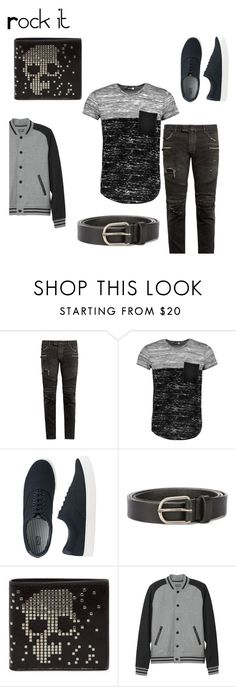 Untitled #19 by twist3d-ang3l on Polyvore featuring Boohoo, Balmain, L.L.Bean, Uniqlo, Alexander McQueen, Dsquared2, men's fashion and menswear