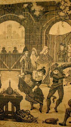 GOBELÄNG DRAPERI 1800/1900 talet