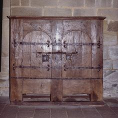 12th century Armoire. Aubazine (Corrèze) by Cletus Awreetus, via Flickr Medieval Furniture, Gothic Furniture, Antique Furniture, Medieval Life, Medieval Castle, Medieval Bedroom, Carpentry And Joinery, High Middle Ages, Closets