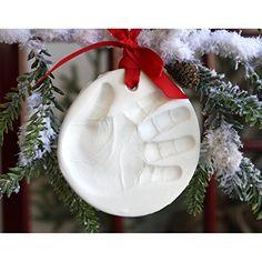 Amazon.com : Child to Cherish Marshmallow Clay Handprint Ornament : Baby Keepsake Products : Baby