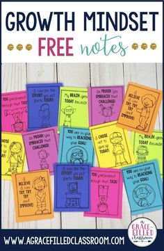If you're looking for Growth Mindset resources be sure to check these out!  Developing a Growth Mindset Community is critical in helping students achieve their highest potential. The growth mindset notes will help you promote a positive classroom environment where students are praised for effort and feel comfortable taking academic risks. #AGraceFilledClassroom #GrowthMindset