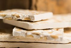 """Torrone antico alle nocciole: exquisite nougat with chocolate chips and hazelnuts. Product obtained exclusively from """"Piedmont Hazelnut"""""""