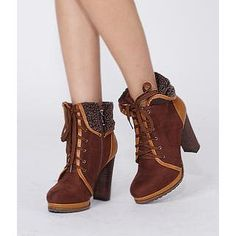 Fleece-Trim Lace-Up Boots from #YesStyle <3 yeswalker YesStyle.com
