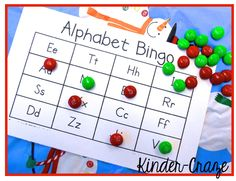 use holiday M as bingo markers at your class Christmas party
