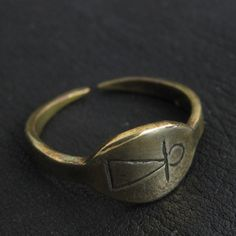 Bronze Phoenician Tanit goddess ring from The Sunken City by DaWanda.com