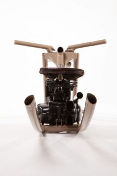 Felix Götze designed this rocking horse out of few bits and pieces of old german motorbikes