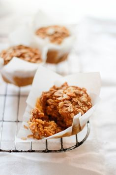 pumpkin granola muffins | The Clever Carrot
