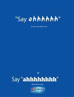 """Say """"ahhh"""" Crest ad"""