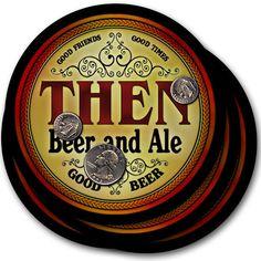 Beer Coasters 4pc Choose Name- Then Kuck Arey Dawe Raye Haig Kehr Vita Bubb Losh…