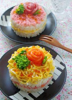 Japanese Food Sushi, Japanese Dishes, Making Sushi Rolls, Cute Food, Yummy Food, Sushi Cake, Happy Cook, Bento Recipes, Food Decoration