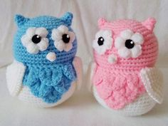 Amigurumi Cute Owl Twins by HaleyGeorge.deviantart.com on @deviantART
